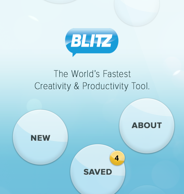 Blitz – An idea generator for groups and teams